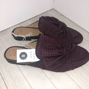 A new day natalee bow backless mules loafers sz 8